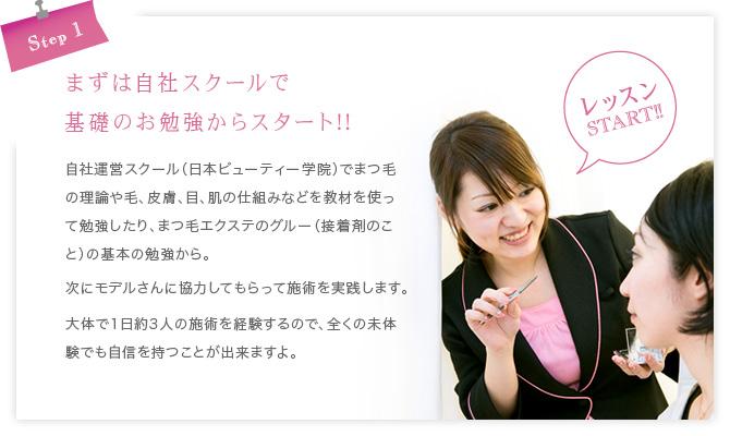 STEP1〜まずは自社スクールで基礎のお勉強からスタート!!